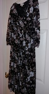 Coldwater Creek floral sheer dress